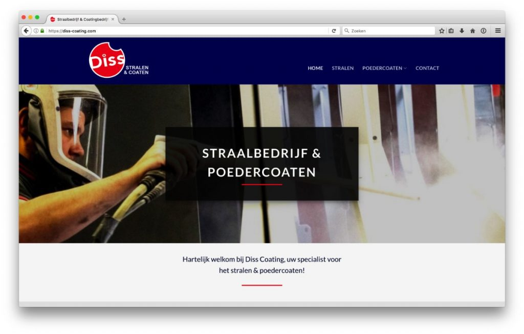 Diss Coating - nieuwe website