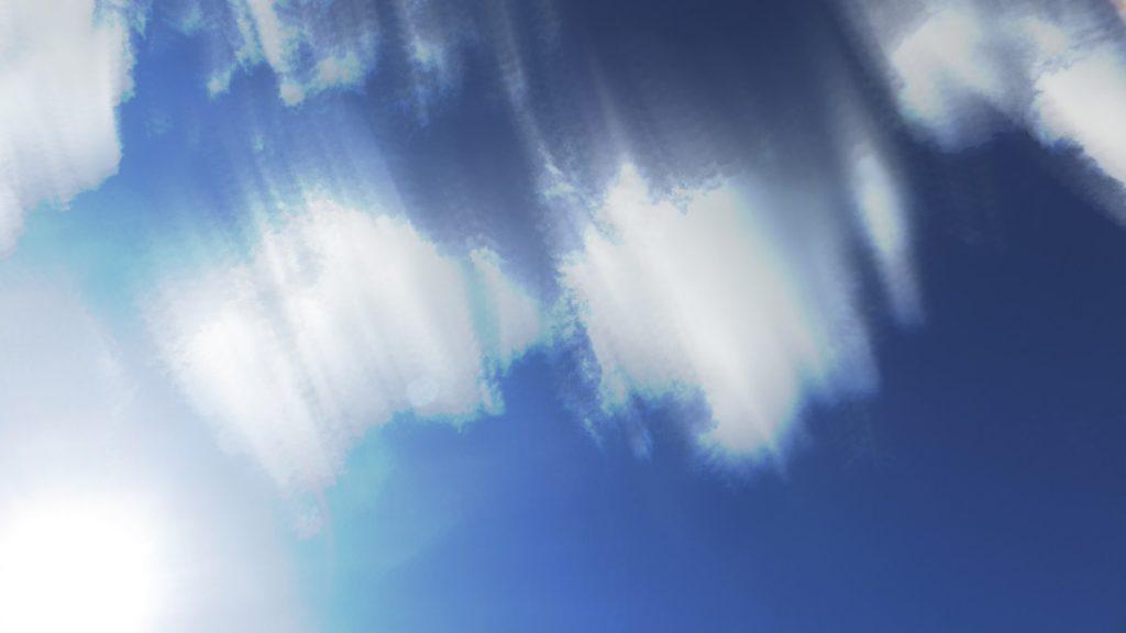 wolken die bewegen